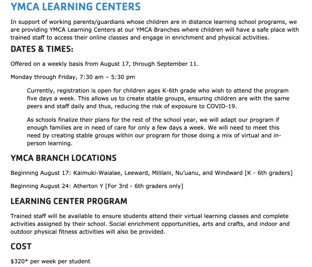 YMCA Learning Center